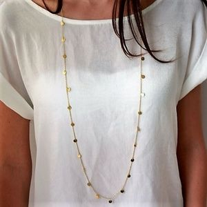 Jewelry - GOLD / SILVER Paillette Double Layer Necklace